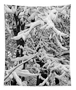 Snow Trees Tapestry