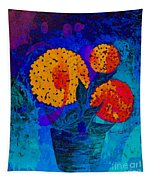 Snowball Plant Abstract 2 Tapestry