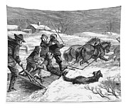 Snowstorm In The Country Tapestry