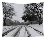 Snowy Road Tapestry