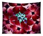 Soft Scarlet Floral Tapestry