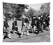 Soldiers March Black And White IIi Tapestry
