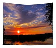 Solitary Sunset Tapestry