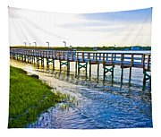 Soundside Park Surf City Tapestry