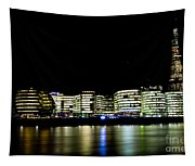 Southbank London At Night Tapestry
