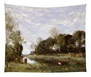 Souvenir Of The Bresle At Incheville  Tapestry