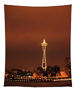 Space Needle Morning Tapestry