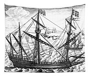 Spanish Ship, C1595 Tapestry