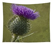 Spear Thistle With Texture Tapestry