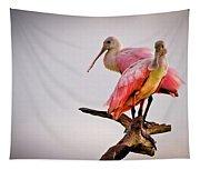 Spoonbills Tapestry