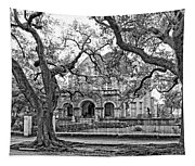 St. Charles Ave. Mansion Monochrome Tapestry