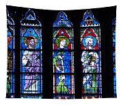 Stain Glass At Notre Dame Cathedral Parus Tapestry