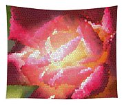 Stained Glass Rose Tapestry