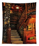 Stairway In Gillette Castle Connecticut Tapestry