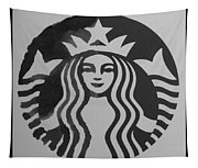 Starbuck The Mermaid In Black And White Tapestry