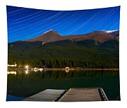Starry Night Of Mountains And Lake Tapestry