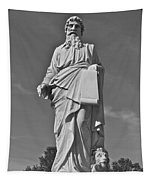 Statue 01 Black And White Tapestry