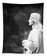 Statue 06 Black And White Tapestry