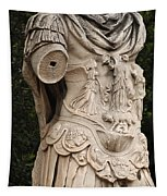 Statue Of Greek Soldier Tapestry