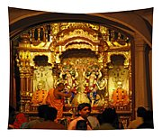 Statues Of Ram And Lakshman And Sita At The Iskcon Temple In Delhi Tapestry
