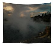 Steam Rising From Hot Springs  Tapestry