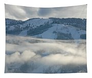 Steamboat Ski Area In Clouds Tapestry