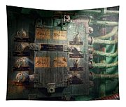 Steampunk - Naval - Electric - Lighting Control Panel Tapestry