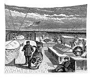 Steamships: Deck, 1870 Tapestry