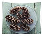 Stil Life With  Seven Pine Cones Tapestry