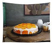 Still Life With Cake And Cactus Tapestry