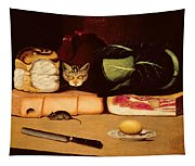 Still Life With Cat And Mouse Tapestry