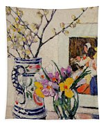 Still Life With Flowers In A Vase   Tapestry