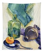 Still Life With Green Bottle Tapestry