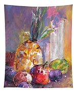 Still Life With Pineapple Tapestry