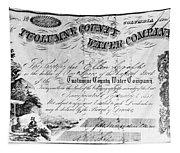 Stock Certificate, 1853 Tapestry