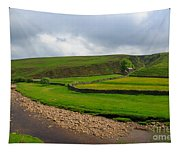 Stone Barn In A Fold Of The Landscape Tapestry