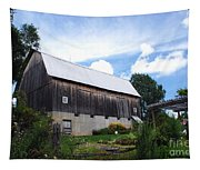 Stone Cottage Barn Tapestry