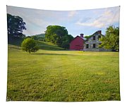 Stone Farmhouse In Vermont Tapestry