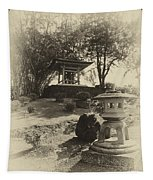 Stone Lantern And Temple Bell Tapestry