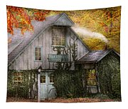 Store - Hollyhocks And Ivy  Tapestry