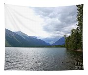 Storm Clouds Over Lake Mcdonald Tapestry