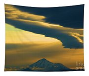 Storm Over Shasta Tapestry