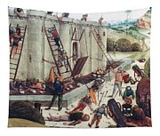 Storming Of Castle Tapestry