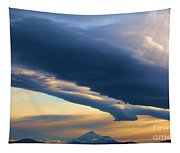 Storms Over Shasta Tapestry