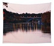 Strawberry Mansion Bridge At Dusk Tapestry