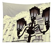 Street Lamps Of Budapest Hungary Tapestry