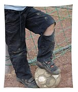 Street Soccer - Torn Trousers And Ball Tapestry