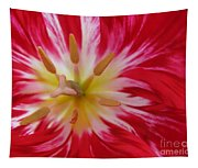 Striped Flaming Tulips. Hot Pink Rio Carnival Tapestry