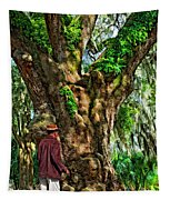Strolling With Giants Painted Tapestry