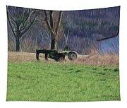 Subsoiler On The Farm  Tapestry